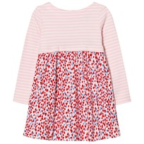 Joules Pink Stripe and Heart Print Jersey Dress HEART DITSY