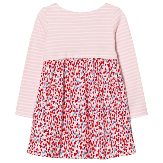 Tom Joule Pink Stripe and Heart Print Jersey Dress HEART DITSY