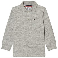 Lacoste Grey Marl Long Sleeve Jersey Polo CCA