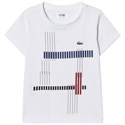 Lacoste Printed Ultradry Tee White