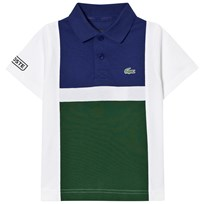Lacoste Blue and Green Superlight Polo U7Q