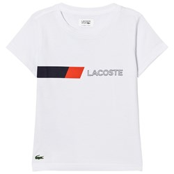 Lacoste Branded Ultradry Colorblock Tee White