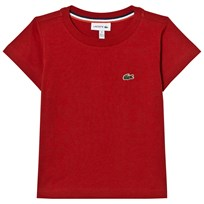 Lacoste Red Branded Jersey Tee 5SK