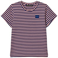 Acne Studios Mini Napa Face Short Tee Pink/Blue Pale Pink / Royal Blue