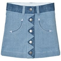 Stella McCartney Kids River Denim Button Skirt 4160