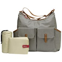 Babymel Frankie Changing Bag Stripe Navy Stripe Navy
