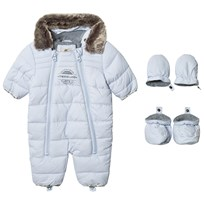 Timberland Pale Blue Puffer Hooded Coverall 771