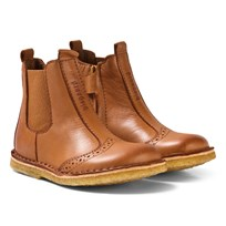 Bisgaard Leather Boots Cognac Cognac