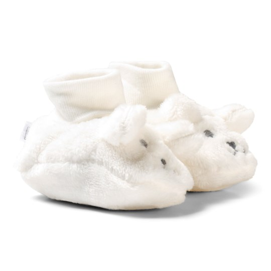 Absorba Cream Furry Face Booties 11
