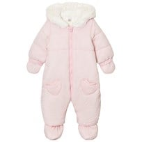 Absorba Pale Pink and Spot Snowsuit with Detachable Mittens and Booties 30