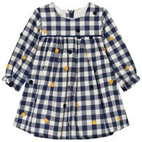 Absorba Navy Check and Embroidered Detail Dress 48