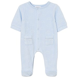 Image of Absorba Footed Baby Body Pale Blue Cloud Velour 9 months (2743703227)
