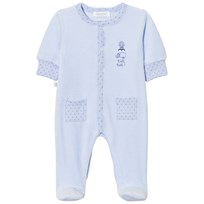 Absorba Footed Baby Body Blue Print Velour 41