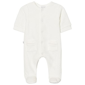 Image of Absorba Footed Baby Body White Cloud Velour Premature (2743703231)