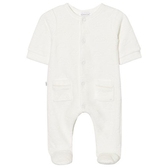 Absorba Footed Baby Body White Cloud Velour 11