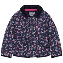 Joules Navy Floral Print Quilted Jacket FRENCH NAVY DITSY