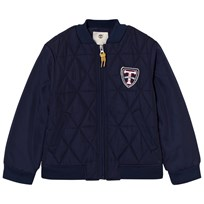 Timberland Navy Quilted Bomber Jacket 85T