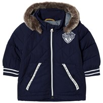 Timberland Navy Padded Parka with Faux Fur Hood 85T