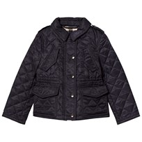 Burberry Navy Neals Quilted Padded Jacket Marinblå