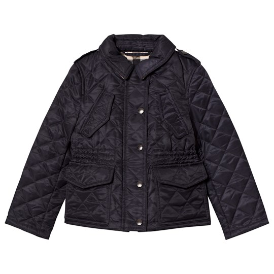 Burberry Navy Quilted Jacket Navy