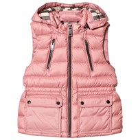 Burberry Pale Rose Maggie Quilted Hooded Gilet Pale Rose