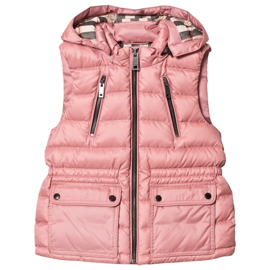 Burberry Pale Rose Down Gilet with Detachable Hood Pale Rose
