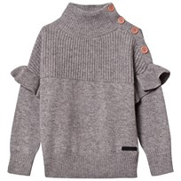 Burberry Grey Melange Suelle Knit Jumper Grey Melange