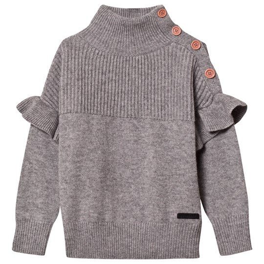 Burberry Cashmere-Blend High Neck Sweater Grey Melange