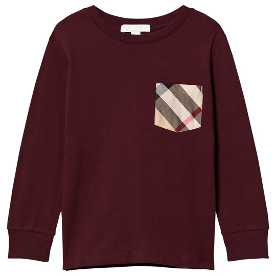 Burberry Long Sleeve Check Pocket T-Shirt Oxblood OXBLOOD