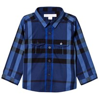 Burberry Blue Check Trent Shirt Brilliant Blue