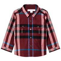Burberry Check Trent Shirt Carmine Red CARMINE RED