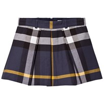 Burberry Navy Check Kittie Skirt PALE NAVY