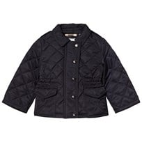 Burberry Navy Mini Neals Quilted Jacket Laivastonsininen