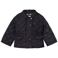 Burberry Navy Mini Neals Quilted Jacket Marinblå