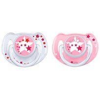 Philips Avent Night-Time Soother 6-18M 2 Pack Pink бежевый