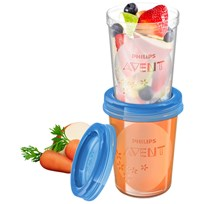 Philips Avent 5 Reusable Food Storage Cups 240 ml (8 oz) бежевый