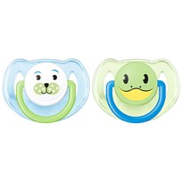 Philips Avent Soother Animal 6-18m 2-pack, B Blue