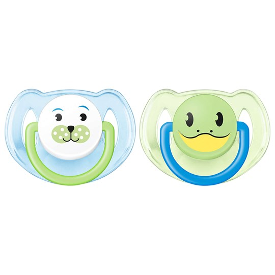 Philips Avent Animal Soother 6-18M 2 Pack Blue Blue
