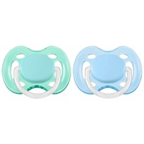 Philips Avent Soother Freeflow Plain 0-6m 2-pack, B Blue