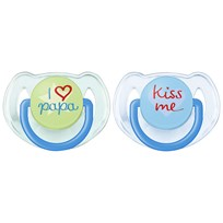 Philips Avent Fashion Soother 6-18M 2 Pack Blue Blue