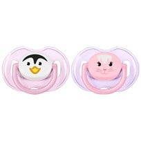 Philips Avent 2-Pack Animal Nappar 0-6M Rosa Pink