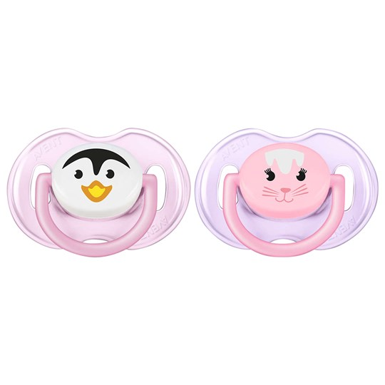 Philips Avent Animal Soother 0-6M 2 Pack Pink Pink