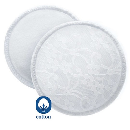 Philips Avent Washable Breast Pads with Laundry Bag - 6 Pack White