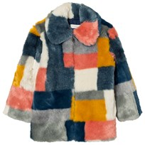Stella McCartney Kids Multi Colour Faux Fur Abbie Coat 8490