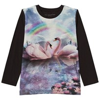 Stella McCartney Kids Blue Rainbow & Swan Bella Girl Tee 1074