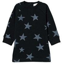 Stella McCartney Kids Navy Glitter Stars Print Leona Dress 3065