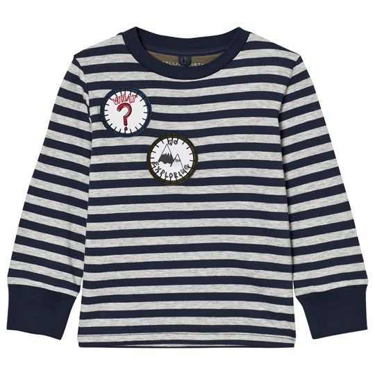 Stella McCartney Kids Navy White Badge Detail Crumble Tee 4302