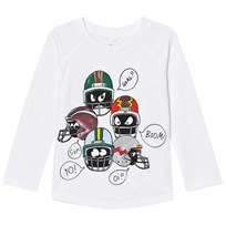 Stella McCartney Kids White Helmet Print Max Tee 9082