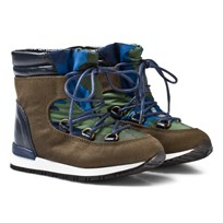 Stella McCartney Kids Olive and Navy Ski Boots 2864