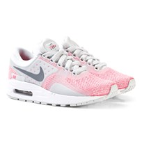 NIKE Cool Grey/ Hot Punch/ White Air Max Zero SE Sneaker PURE PLATINUM/COOL GREY-HOT PUNCH-WHITE